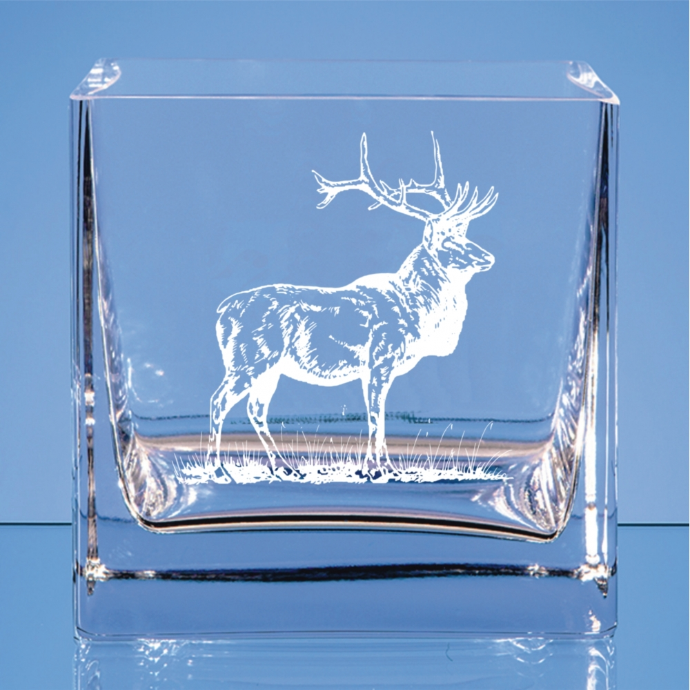 small bowl red stag