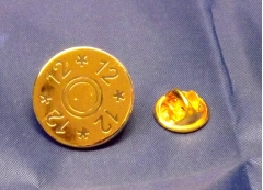 12 gauge gold plated pin