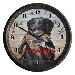 winchester dog & duck clock
