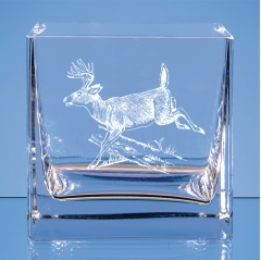 small bowl running deer