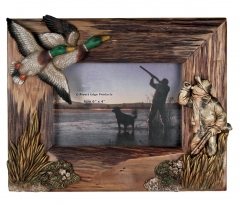 wooden duck shooting picture frame