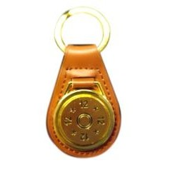 24k gold plated key rings on leather fob