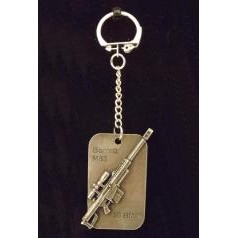 Dog tag gun key rings