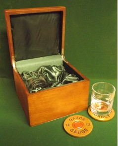 Gift boxed glass & Coaster