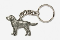 Pewter Dog Key Rings I to Z