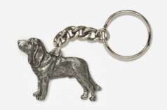 Pewter Dog Key Rings A to H