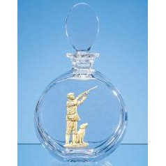 Crystal JR31 decanter with silver embellishment