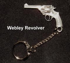 Pewter miniature gun key rings