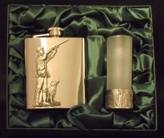 Flask & Glass Gift Set